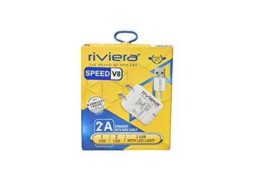 RIVIERA V8 Wall Charger with Data Cable  Speed V8