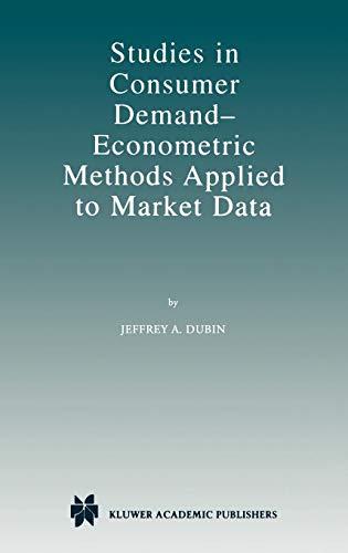 Studies in Consumer Demand _ Econometric Methods Applied to Market Data