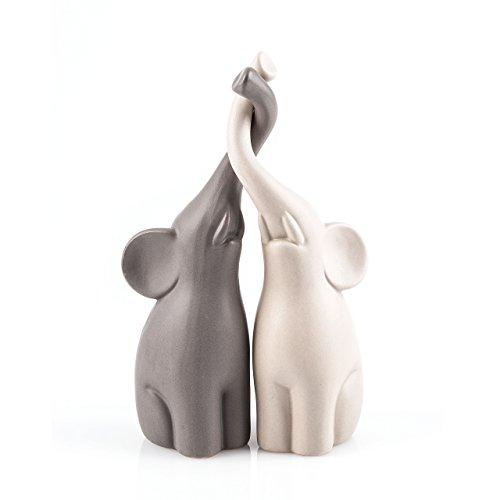 Pajoma 54837 Verliebte Elefanten 2-er Set, Höhe 25,5 cm