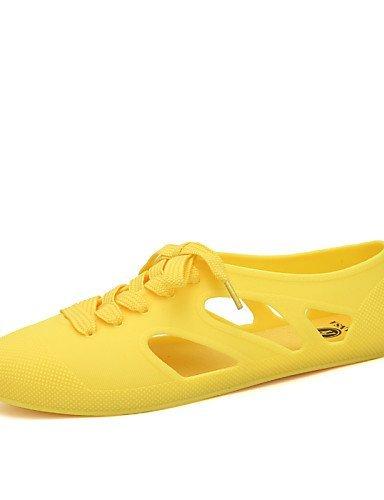 Rosa claro Negro Goma de ShangYi plano Casual Zapatos Beige talón Negro Verde mujer Comodidad Azul Amarillo qPZnO1