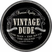 60th Party Supplies - Vintage Dude Design - Disposable Paper Dinnerware - 16 Guests - Includes Dinner Plates, Dessert Plates and Napkins