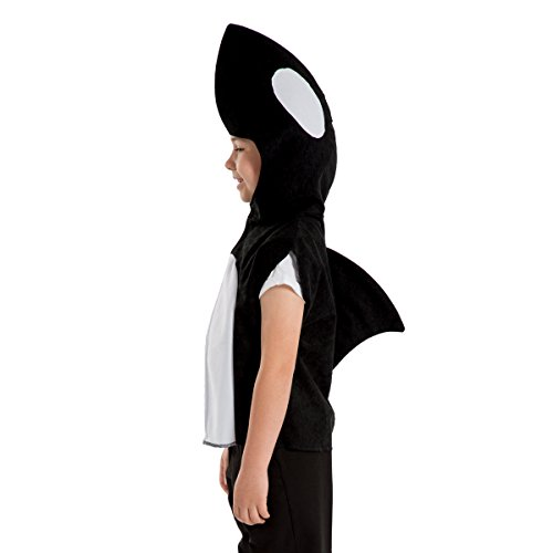 Kids Whale Costume (Charlie Crow Whale/Orca Costume for Kids one Size 3-8 Years Black and)