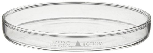 Corning Pyrex Borosilicate Glass Petri Dish with Cover, 95mm Diameter x 17mm Height (Pack of 12)