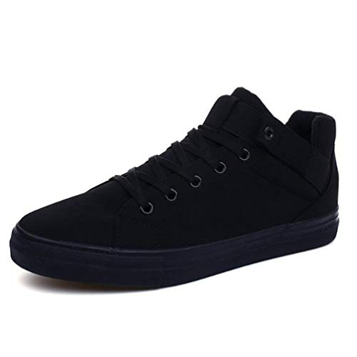 Calzature Casual Canvas Moda Black Shoes Scarpe Traspirante Uomo 64qrU6