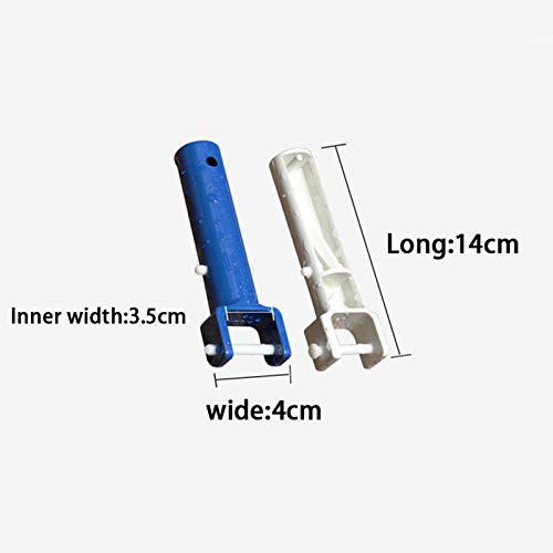 2Pcs Handles for Swimming Pool SPA Vacuum Head Handles Replacement Cleaning Equipment Sewage Suction Accessories Blue Sandwiched On Standard Telescopic Rod Ohyoulive Swimming Pool Cleaning Tool