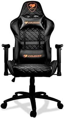 COUGAR Gaming Armor One Black Silla de Juegos, Imitación Cuero, Negro, Medio  1GM6yl
