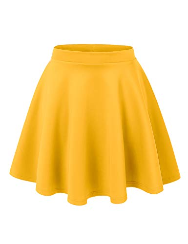 MBJ WB211 Womens Basic Versatile Stretchy Flared Skater Skirt L ()
