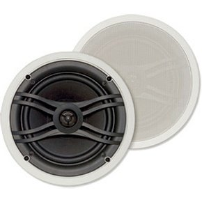 """Yamaha NS-IW560C 8"""" 2-Way In-Ceiling Speaker System for Custom Installations (White)"""