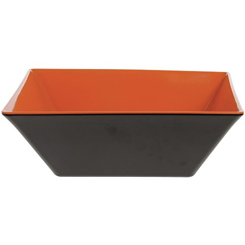 G.E.T. Brasilia 5 7/10 qt Square Orange Melamine Bowl - 12'' L x 12'' W x 4 1/2 H by G E T ENTERPRISES LLC