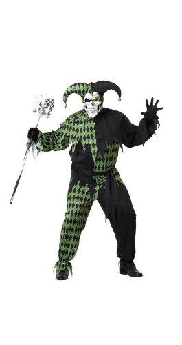 Evil Jester Plus Costumes (California Costumes Plus-Size Jokes On You, Black/Green, XX-Large Costume)