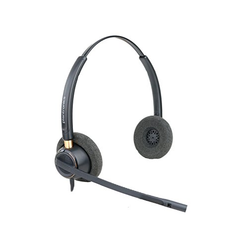 Plantronics HW520 Binaural Wired Office Headset (Renewed)
