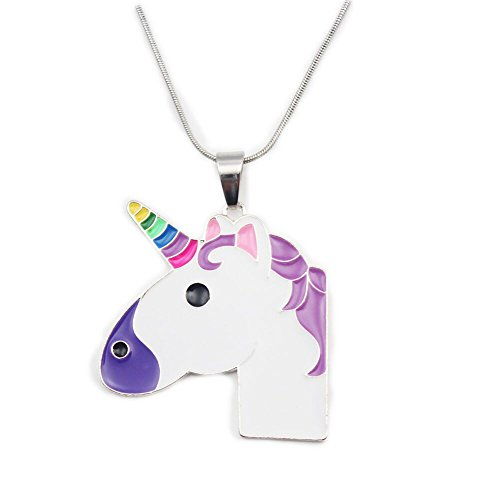 Price comparison product image 1.7inch Pandent Unicorn Birthday Gifts Necklace Baby Girl Chunky Necklace (STYLE 1)