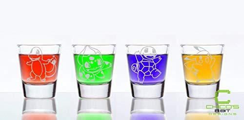 (Pocket Monster Starter Shot Glass Set of 4 )