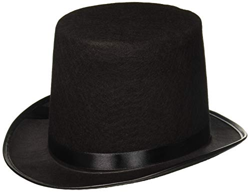 Deluxe Black Magician Butler Formal Costume Top Hat