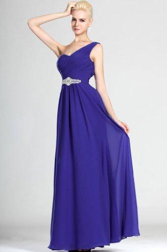 Damen Dearta 1 Etui Bodenlang Regency Schulter Linie Kleidungen Blau Abendkleider Chiffon dafqxf
