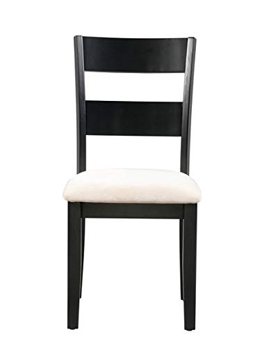 Amazon.com - Wood Dining Chair with Microfiber Upholstery ...