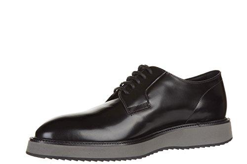 Hogan chaussures à lacets classiques homme en cuir h217 derby route x noir