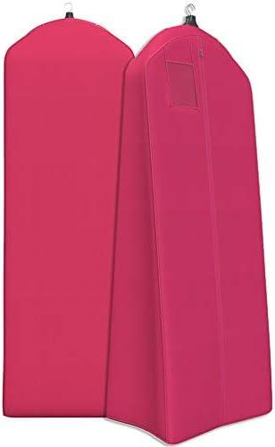 "Women's Garment Bag For Long Dresses, Wedding Gowns – 72×24"", 20"" Tapered Gusset"