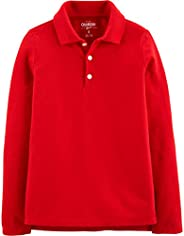 OshKosh Girls Long Sleeve Uniform Polo Shirt