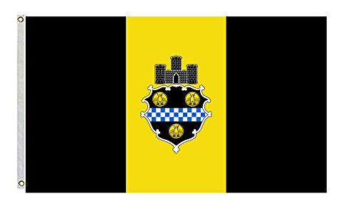 Pittsburgh Flag City (City of Pittsburgh Flag and Banner Size 3x5 Feet)