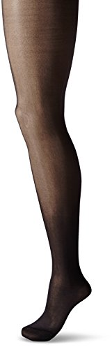 (Berkshire Shimmers Semi Sheer Opaque Control Top Tights (Petite/Black))