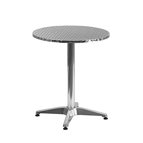 Flash Furniture 23.5'' Round Aluminum Indoor-Outdoor Table with Base -