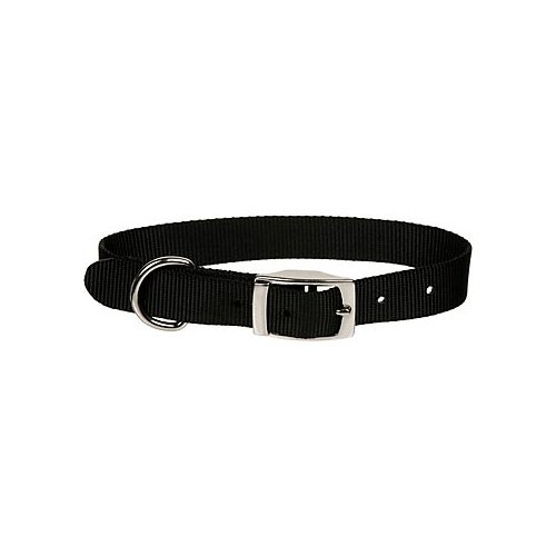 Dogit Nylon Single Ply Dog Collar with Buckle, Large, 22-Inch, Black, My Pet Supplies