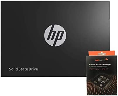 "Special Bundle - HP SSD S700 2.5"" 500GB / 1TB SATA III 3-d NAND Internal Solid State Drive + AAAwave Aluminum HDD/SSD Mounting Kit (500GB)"