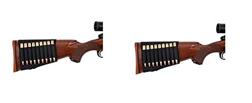 Allen Rifle Buttstock Shell/Cartridge Holder, fits Most Hunting Rifles .270, 30.06, 6.5 creedmoor, 7mm (Pack of 2) ()