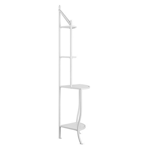 Furniture HotSpot Corner Bakers Rack - White - 25.5'' W x 18'' D x 76'' H by Furniture HotSpot (Image #2)