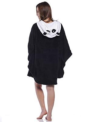 Rene Rofe Women's Fun Faces Hooded Loungewear Poncho