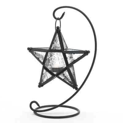Table Top Candle Lantern Starlight Standing Lamp Star Iron And Glass (Garden Lanterns For Candles)