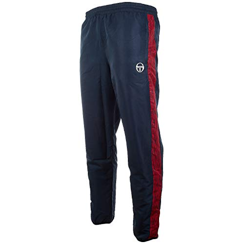 - Sergio Tacchini Men's CAGE Track Pants (Large, Navy/White)