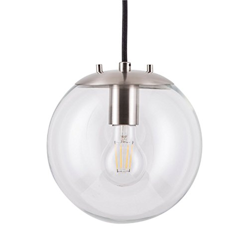 Sferra LED Industrial Kitchen Pendant Light - Brushed Nickel - Linea di Liara LL-P201-BN