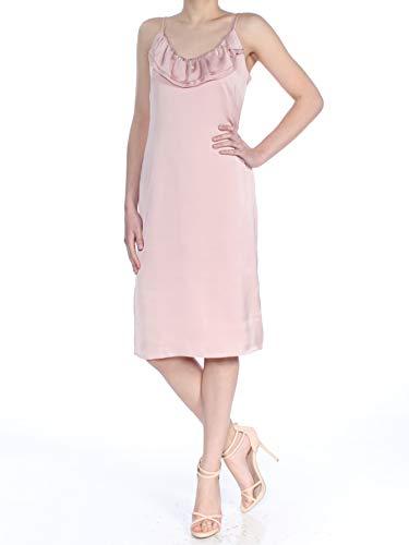 BCBGeneration Women's Ruffled Slip Dress, Rose Smoke, 0