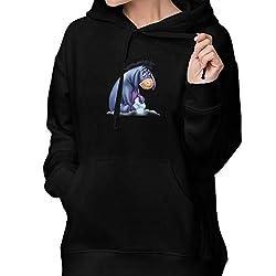 Rolvsx Womens Winter Hoodies Acmiran Eeyore Cotton Hooded Coat Jacket Pullover Sweatshirt Outwear Long Sleeve