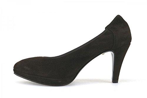 Calpierre - Zapatos de vestir de ante para mujer Rojo T. Moro
