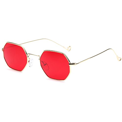 Polygon Sunglasses for Women Polarized Shade Glasses UV400 Classic Stytle - Tint Red Sunglasses