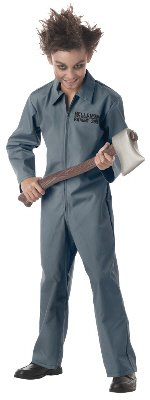 Mental Patient Halloween Costume (Psychopath Costume - Child - Large)