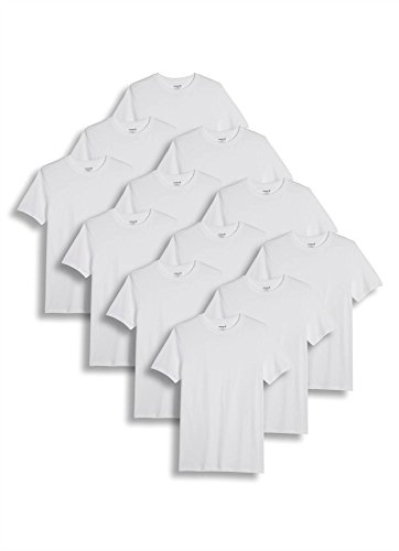 Jockey Men's T-Shirts Big & Tall Classic Crew Neck T-Shirt - 12 Pack, white, (Jockey Large Crewneck T-shirt)