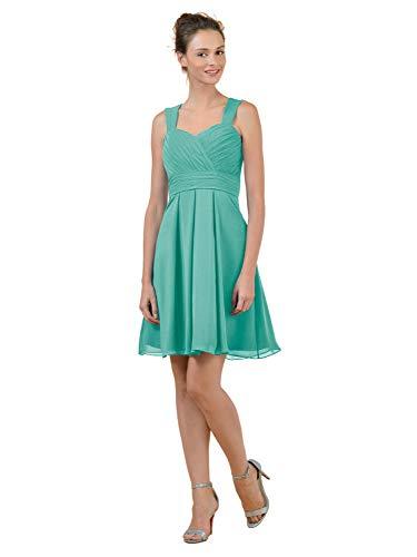 Alicepub Short Bridesmaid Dresses Chiffon Party Cocktail Homecoming Dress, Tiffany, US8