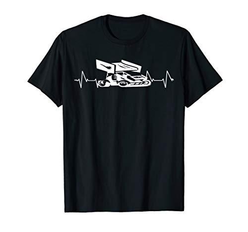 - Sprint Car Racer T Shirt Gift Sprint Car Driver Heartbeat