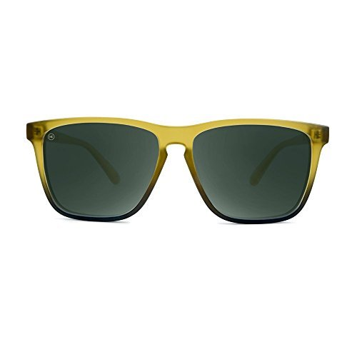 Knockaround Talkover-polarisierten Sonnenbrillen Amber Fade gefrostet/Aviator grün kg86FCN