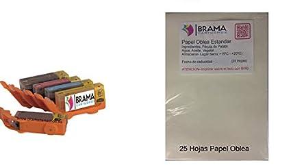 PACK de 25 Hojas de papel de Arroz A4 y 5 X Cartuchos ...