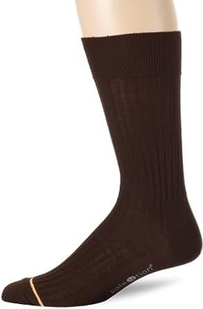 Gold Toe Men's Mercerized English Rib Non Elastic, Brown, Sock Size:10-13/Shoe Size: 6-12