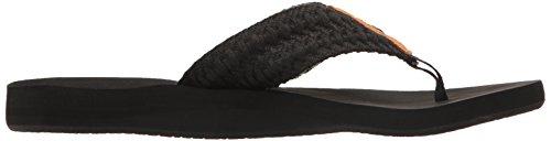 Cushion black Infradito Reef Bla Nero Donna Threads 4n7qwnWPUd