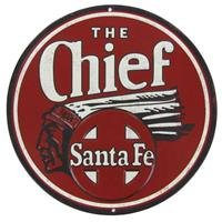 Santa Fe Chief Tin SignNew by: CC