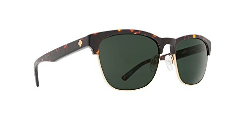 Spy Optic Loma Sunglasses Dark Tort Mt Gold with Grey Green Lens + Spy Sticker