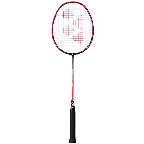 Yonex Nanoray 10 F Badminton Racket (Black/Red) G4 (Strung)