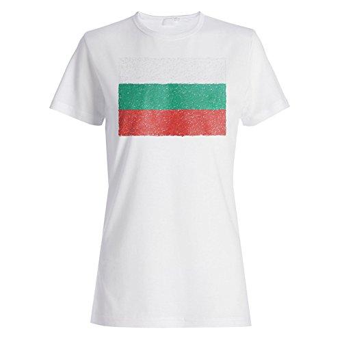 Neue Flagge Von Bulgarien Kunst Damen T-shirt i232f